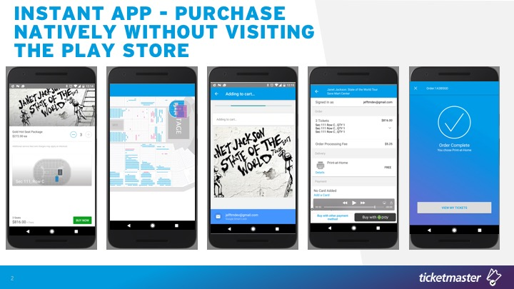 Ticketmaster Demonstrates Cutting Edge Android Instant Apps